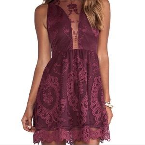 For Love and Lemons Lulu Dress Size XS Wine